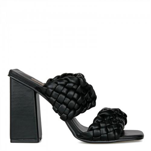 Γυναικεία πέδιλα μαύρα Μ602
