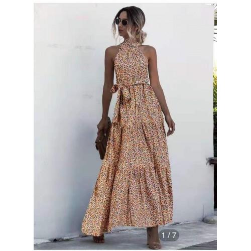 Γυναικείο φόρεμα maxi φλοράλ 527