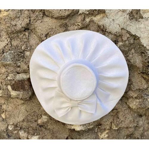 Γυναικείο ψάθινο καπέλο λευκό 57