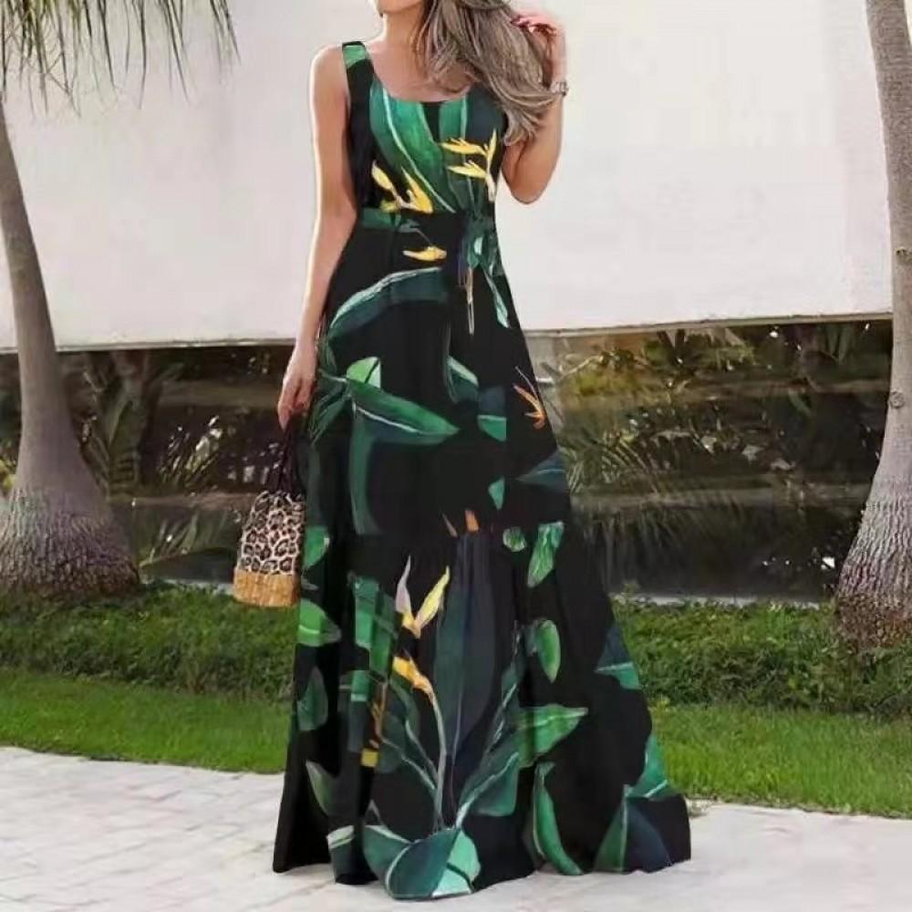 Γυναικείο φόρεμα maxi μαύρο 5722