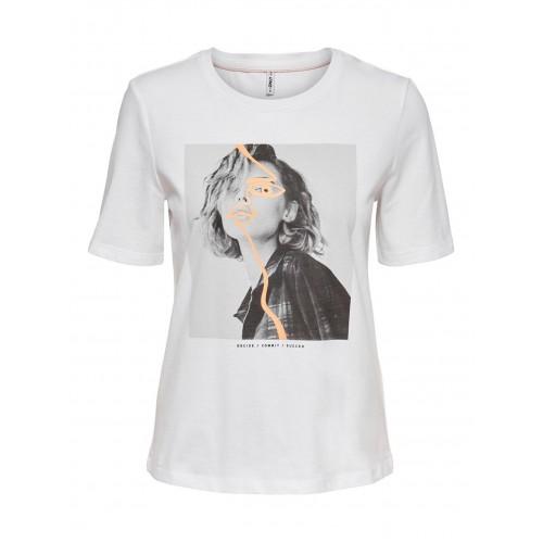 Γυναικεία μπλούζα λευκή ONLY 15228420W